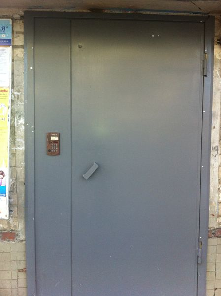 металлические двери на подъезд с домофоном в г люберцы