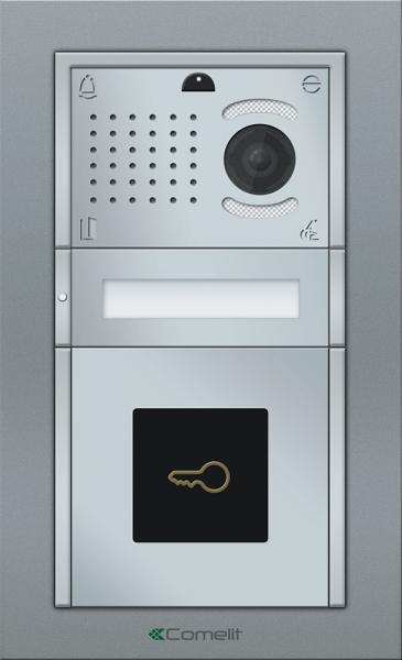 IP Вызывная панель Comelit IKALL Metal с 1 кнопкой со считывателем VIP
