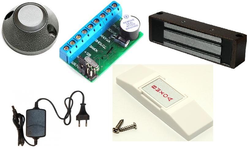 Готовый комплект с электромагнитным замком  Электромагнитный замок. Кнопка  НО-02. Контроллер эл.магнитного замка Z-5R Считыватель CP-Z 2L накладной  EM- ... 14d4b531c20ac